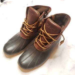 SPERRY women's saltwater duck boots 9M